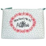Stella & Max Aloha Large Top Zip Cosmetic Case